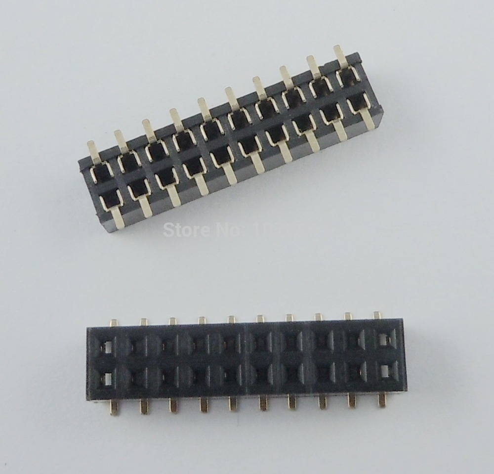 50 Pcs Per Lot Pitch 2mm 2x10 Pin 20 Pin Female Double Row SMT Pin Header Strip<br><br>Aliexpress