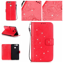 3D Diamond Wallet PU Leather Flip Mobile Phone Cover Case Huawei Ascend Y6 G8 P8 Lite P9 plus Honor 4C 5C 5X Nexus 6P - buybest store