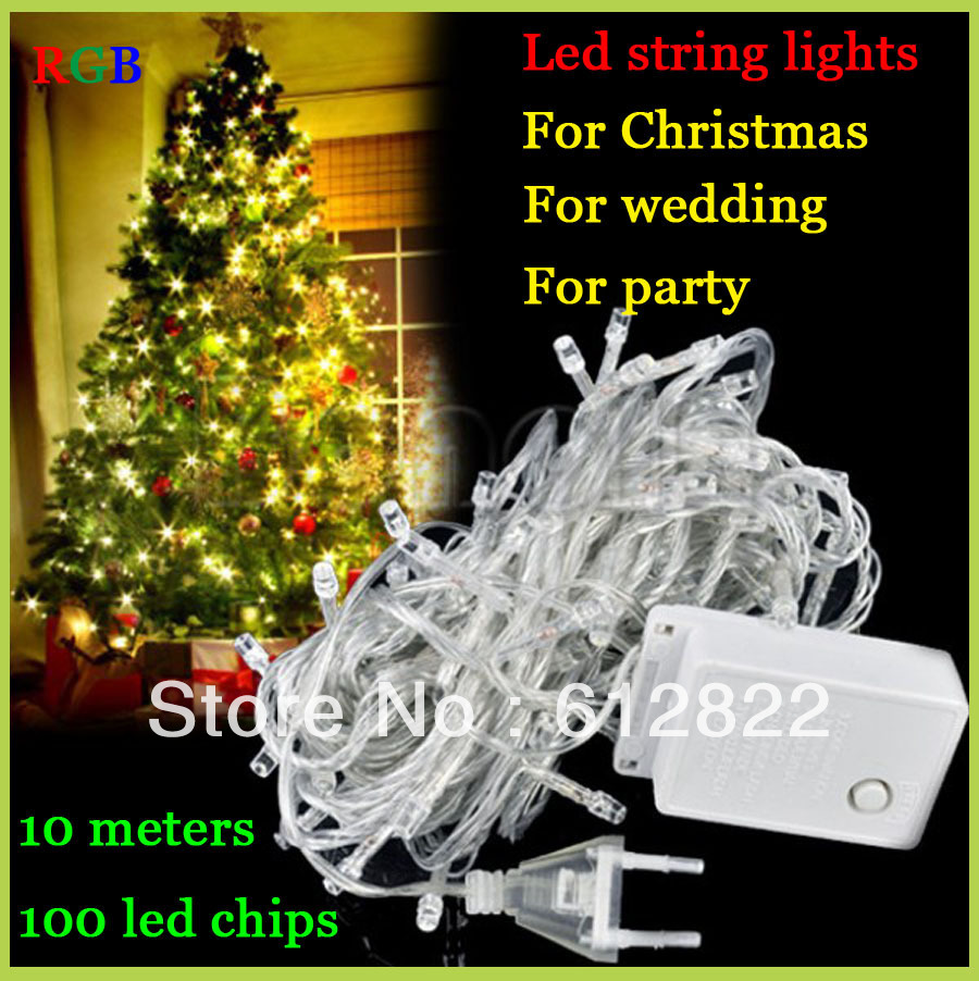 Factory directly sale 1 LED String Light 10M 85-265V Decoration light Party Wedding Christmas lights FreeShipping - Top e-commerce company store