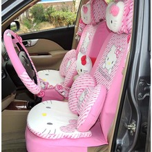 Universal Cartoon Hello Kitty Car Seat Covers Styling Interior Accessories Cushion