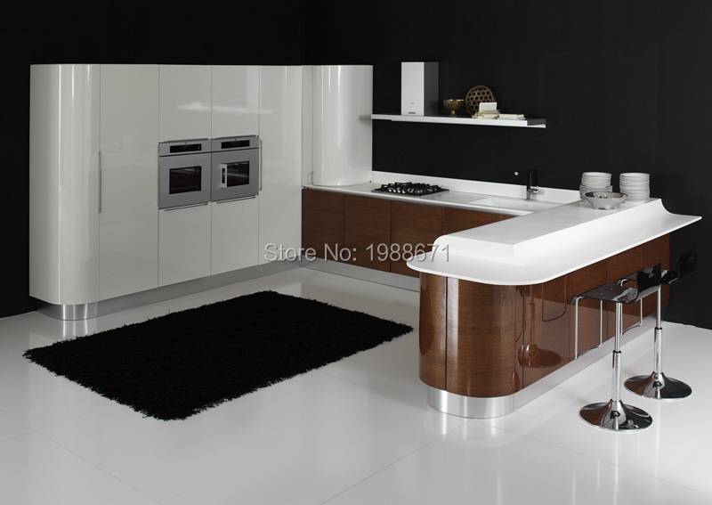 White Gloss Pvc Mdf Kitchen Cabinet Doors Wood Veneer High Gloss