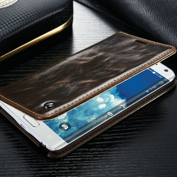 Case for Samsung Note Edge Luxury R64 Leather Caseme Wallet Cell Phone Case for samsung galaxy note edge free gift high quality(China (Mainland))