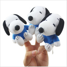 J274 1pcs Super Cute Puppy Puppets Finger Toy Small Long Ears Dog Finger Plush Toys Baby Infant Doll Kids Gifts Wholesale(China (Mainland))