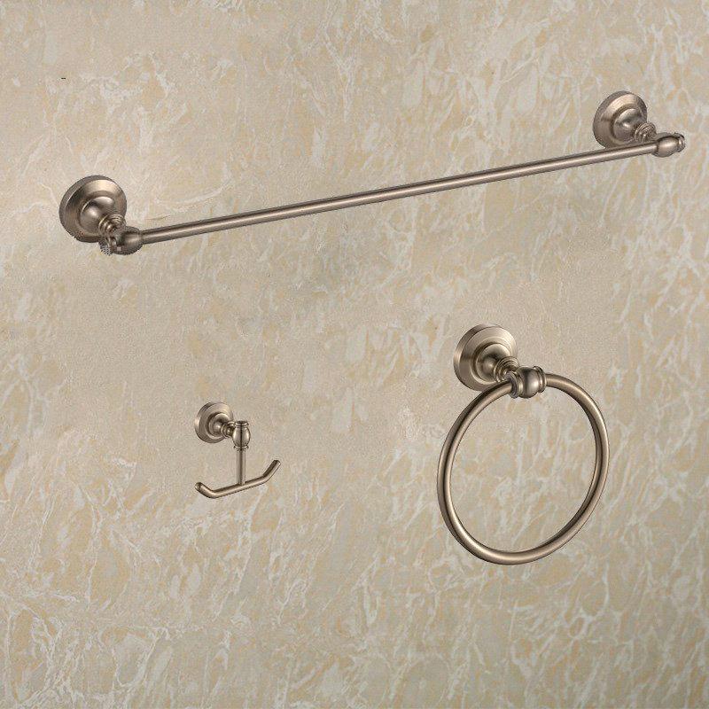 Bathroom space aluminum single towel bar cloth hook holder towel ring bathroom hardware set double brush(China (Mainland))