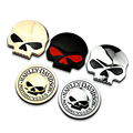 2015 Hot Sale 3D Metal Skull Car Sticker Auto Car Moto Motorcycle Sticker Car Styling