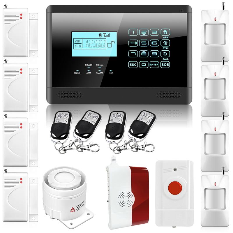 M2E Wireless GSM SMS Home Emergency Alert Security Alarm System, PIR Motion Sensor, Door Gap Detector, Gas Sensor P719(China (Mainland))