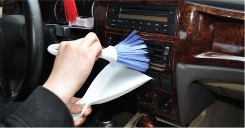 2015 New Automotive air conditioning outlet cleaning brush instrument soft brush car interior cleaning supplies tools(China (Mainland))
