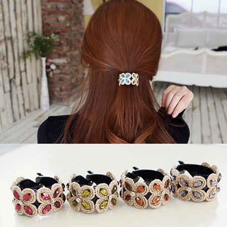 Fashion design barrettes rhinestone flower clips female ponytail accessories brand crystal hairpins Banana Clip Free shippingОдежда и ак�е��уары<br><br><br>Aliexpress