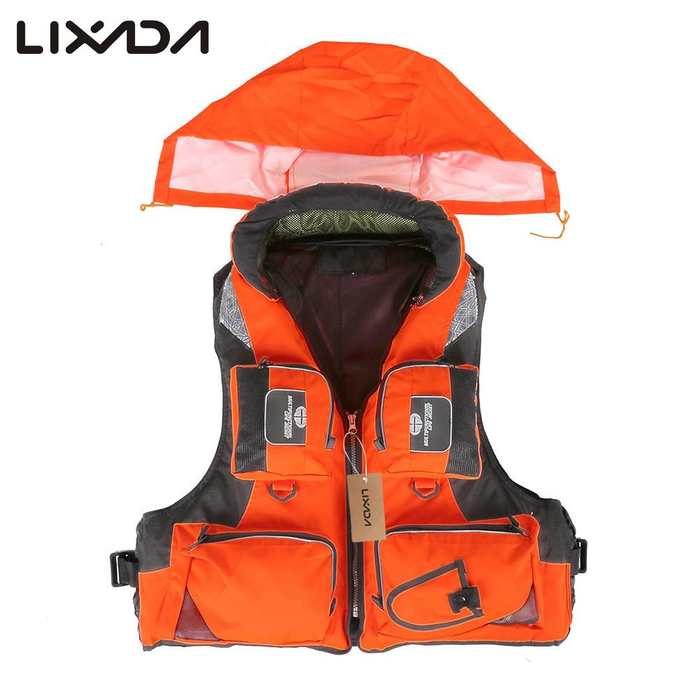 Lixada Life Vest Fishing Vest Adult Polyester Swimming Professional For Drifting Boating Survival Safety Jacket Water Sport Wear(China (Mainland))