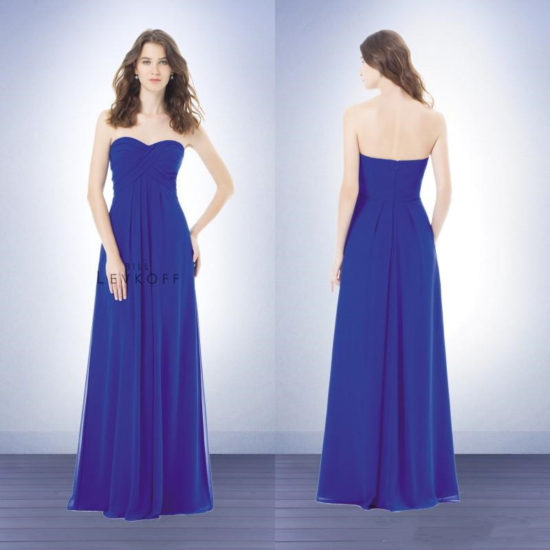 Royal blue long bridesmaid dresses 2015 beach a line for Blue beach wedding dresses