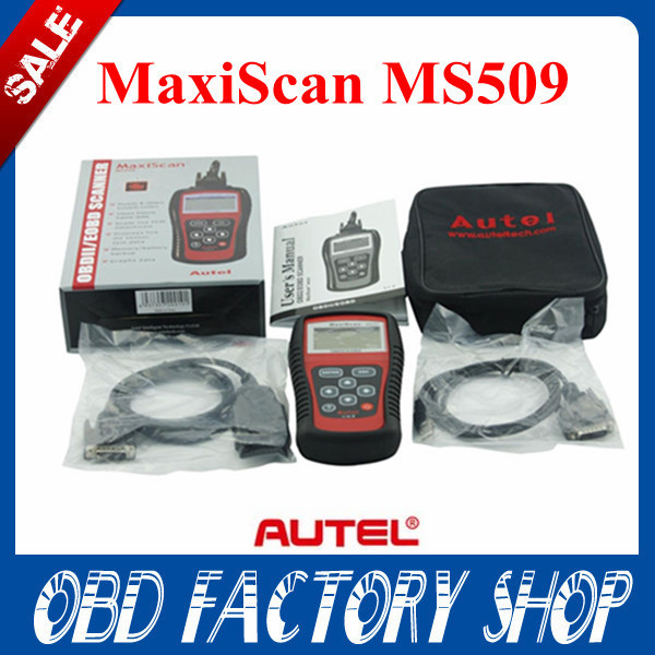 Free shipping 2015 newest Autel MaxiScan MS509 OBDII / EOBD Auto Code Reader MS 509 OBD 2 scanner(China (Mainland))