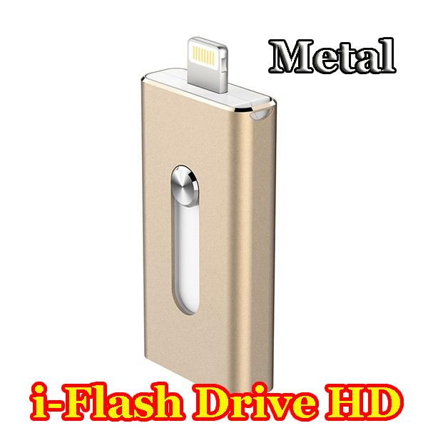2015 Metal i-Flash Drive HD 16gb 32gb 64gb Lightning/Otg Usb Flash Drive For iPhone 5/5s/5c/6/6 Plus/ipad i-Flashdrive Pendrive(China (Mainland))