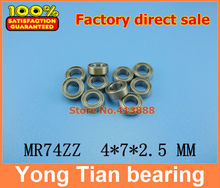 Free Shipping 10 PCS MR74ZZ ABEC-5 4X7X2.5 mm Deep groove Ball Bearings MR74 / L-740 ZZ