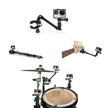 Gopro Accessories The Jam Adjustable Music Mount for Gopro Hero 4 3+ 3 Xiaomi Yi Action Camera SJCAM SJ4000 SJ5000 SJ6000