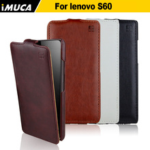 for lenovo s60 case flip cover for lenovo s60 s60t s60w s 60 imuca cases mobile phone cover vertical case with retail package