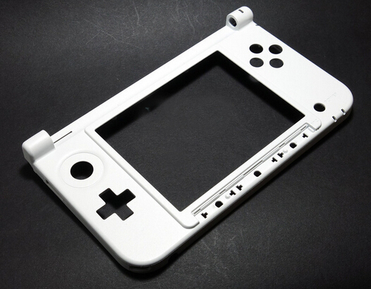 2 pcs OEM original for Nintendo 3DS XL OEM Genuine Button Lower Screen Face Hinge Plate Part white color(China (Mainland))