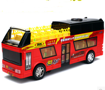 Ultralarge convertibles double layer big bus child electric toy school bus music remote control(China (Mainland))