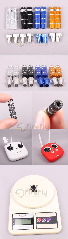 1 Pair Phantom 4 3 Remote Controller Lengthened Joystick Lever Rocker Accessories for DJI Phantom4/3 Inspire 1 M100