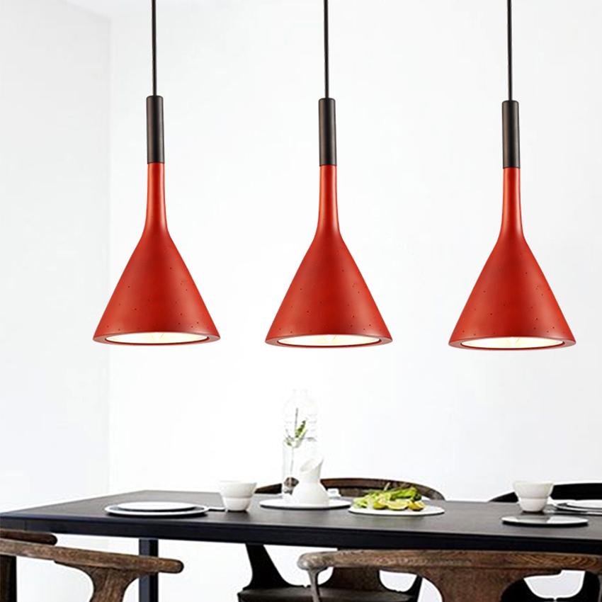 [DBF] Modern minimalist imitation concrete Decor Resin Replica LED pendant lamp for restaurant bar bedroom black  white  red (5)