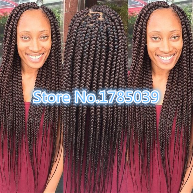 Diy Crochet Box Braids : Freetress Box Braid Medium Crochet Latch Hook Braiding Hair Extension ...