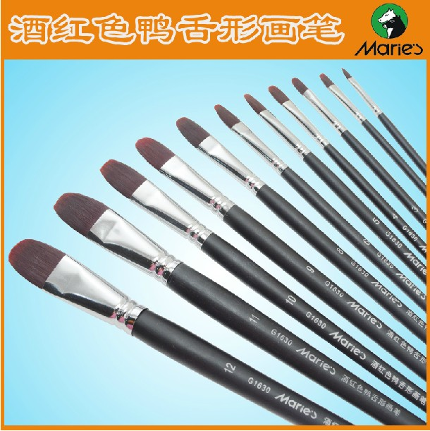 Maries G1630 Nylon Paintbrushes oil Acrylic paint brushes  painting supplies 12pens/set  <br><br>Aliexpress