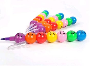 4 pcs/pack stationery multicolour bullet doodle Wax Crayons (KB-06)