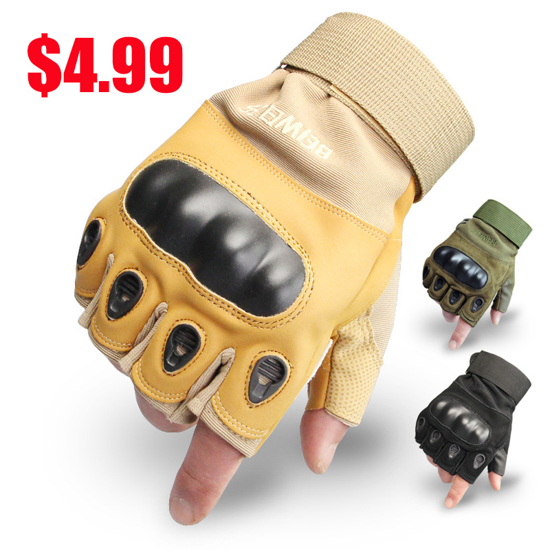 Best Half Finger Military Tactical Gloves Outdoor Work Gloves Combat Police Tactical Shooting Fingless Glove(China (Mainland))