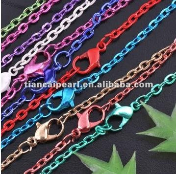 New fashion!!AAAA 40 string mix color necklace chains, for DIY jewelry accessory!More quantity and less price!