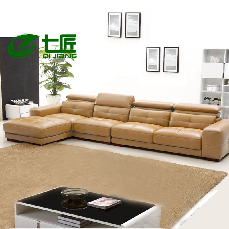 Combination of high end modern leather sofa leisure sofa l for High end living room furniture