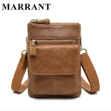 MARRANT Genuine Leather Men Bags Man Messenger Bag New Crossbody Shoulder Handbag Male Small Flap Bag Waist Pack 2017(China (Mainland))