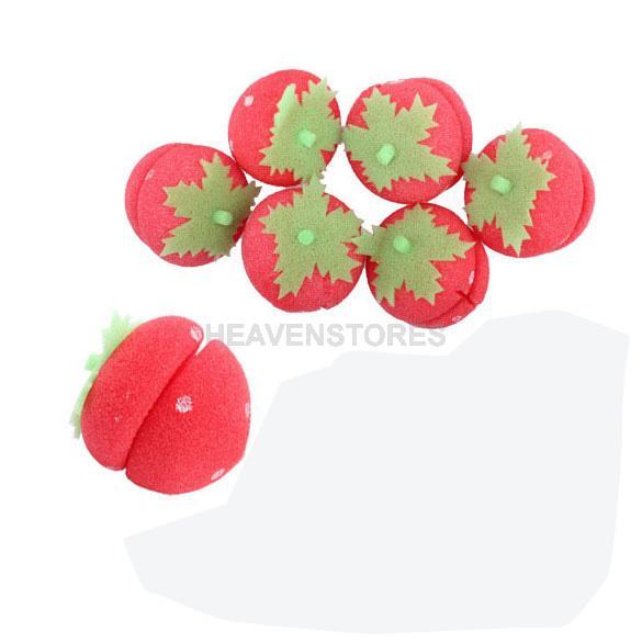 6Pcs Magical Strawberry Sponge Ball for Hair Curling hv3n(China (Mainland))