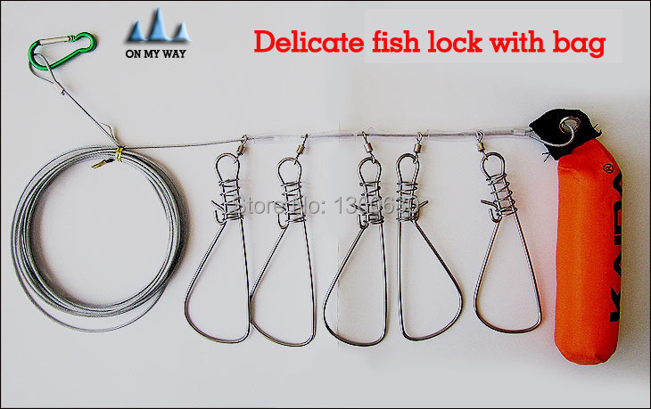 Promotion ! Fish Lock Buckle Stainless Steel Fish Lock Belt fishing tackle fishing lock Fishing Supplies free shipping 13<br><br>Aliexpress