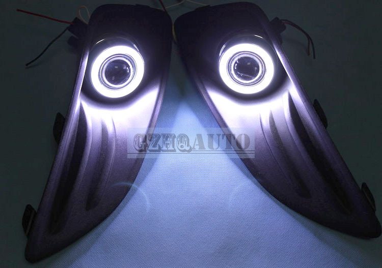 Car accessories Daytime running lights LED angel eyes lights for Ford Fiesta 2013 fog lamp(China (Mainland))