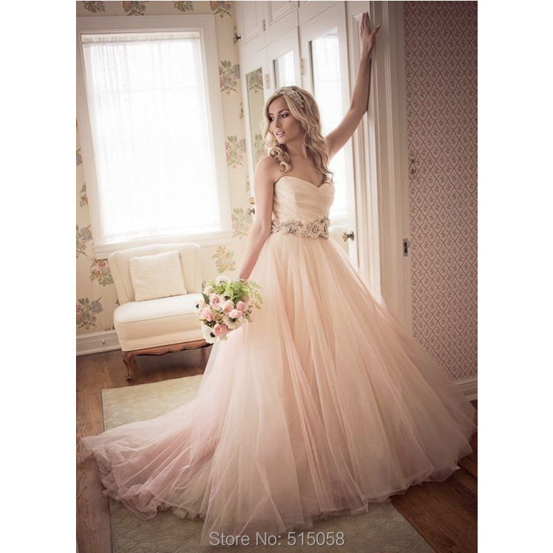 Blush Wedding Gowns: Aliexpress.com : Buy Sexy Ruched Sweetheart Flower Sashes