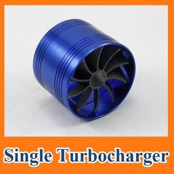 Single Air Intake Gas Fuel Saver Turbine Turbo charger Kits Engine Enhancer Fan