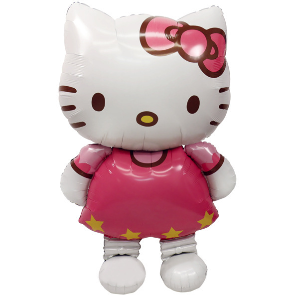 2pcs/ Hello Kitty cat large balloon 116 * 65cm air balloons birthday/ party/wedding foil balloons children classic baby toys(China (Mainland))