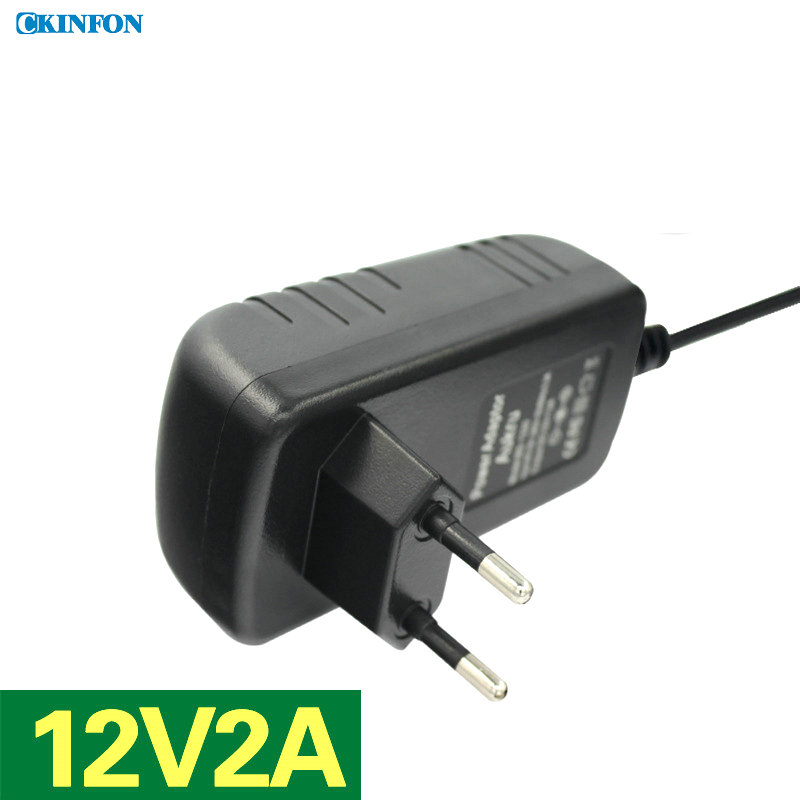 DHL/Fedex 50PCS EU Plug Power Adapter Router Power Hard Disk Video Recorder Switch Power Supply 12V2A(China (Mainland))