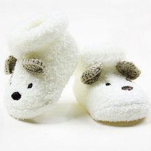 2016 neonati calze unisex del bambino delle ragazze del ragazzo infantile carino orso presepe scarpe calde all'ingrosso(China (Mainland))