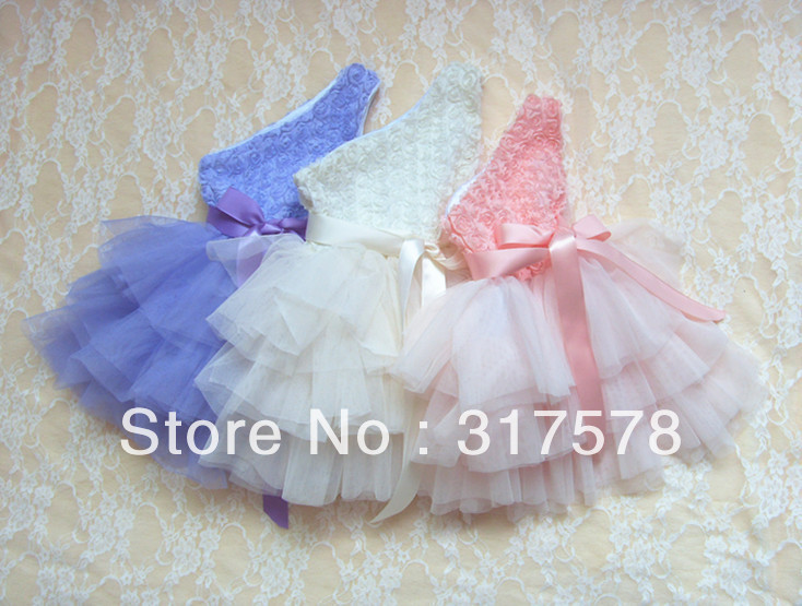 New Baby girl One-shoulder chevron dress princess dress chiffon big bowknot 5pcs/lot/color includes each size free shipping<br><br>Aliexpress