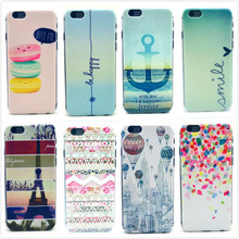 Fashion Colorful Painting Print Balloon Tower Mobile Phone Case Cover PC Hard Plastic for Apple iPhone 6 6G