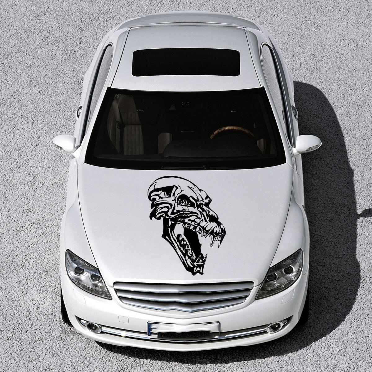 Car body sticker design eps - Car Hood Vinyl Sticker Decals Graphics Design Art Skull Monster Tattoo Sv4851 China Mainland