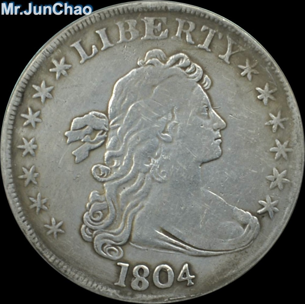 Mr J 1804 United States Silver Plated Liberty Dollar Copy