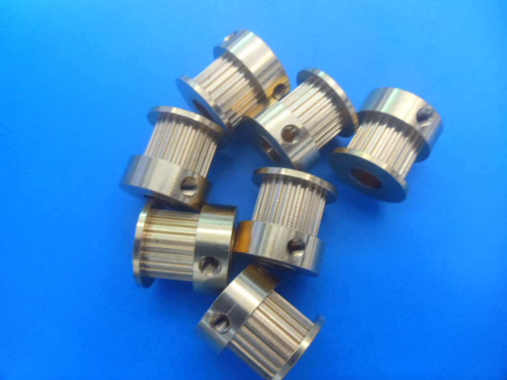 Copper timing pulley synchronous wheel MXL-24 brass belt pulley bore 8 mm for Precision Machine Tools Free shipping 10pcs(China (Mainland))