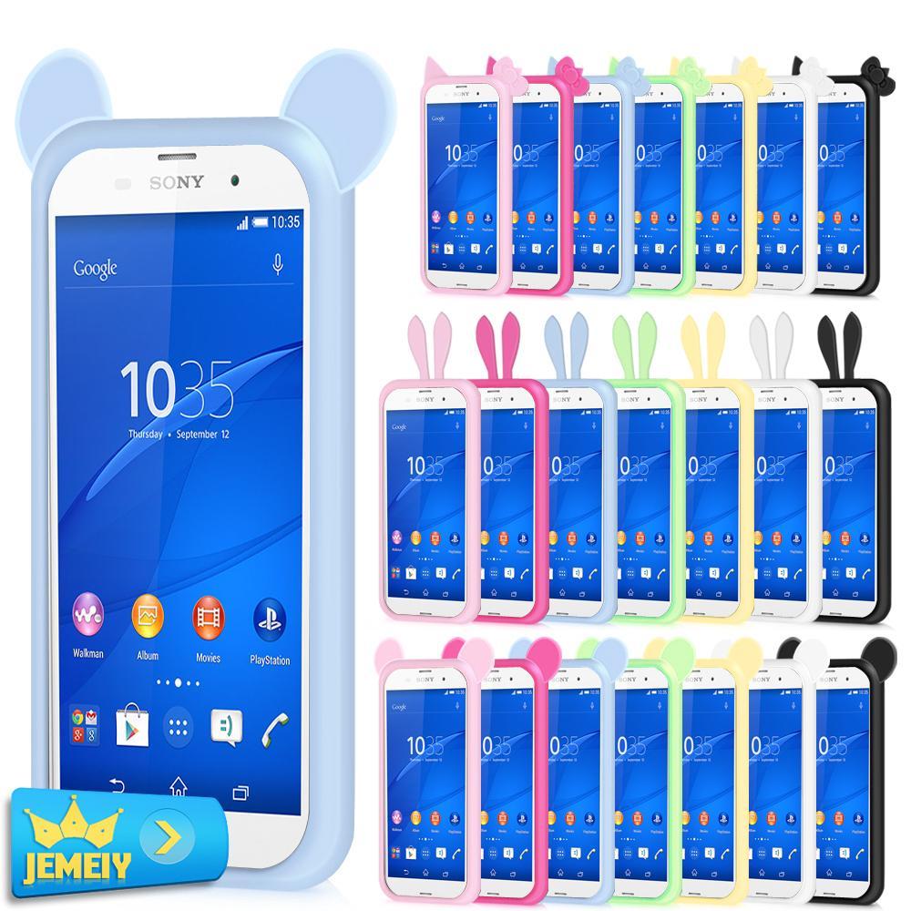 Для Sony Xperia C Z3 Плюс M4 Аква Z5 ZL М2 универсальный Силиконовый Кольцо Крышка Случая Рамки Круг Бампер Случаи Телефона Большой размер