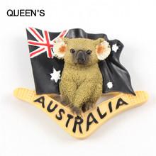 Australia flag & koala magneti del frigorifero creativi cartoontourist souvenir adesivi magnetici per la decorazione domestica disegnata a mano regali(China (Mainland))