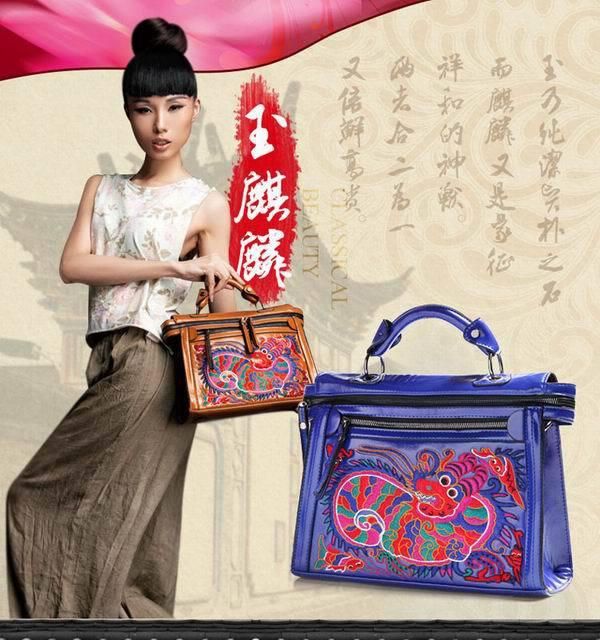 2015 New Original Design Embroidered Handbag Bag Fashion Ladies Tote Shoulder Bag indian thail Ethnic Bags(China (Mainland))