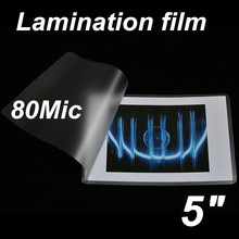 5in 80mic laminating thermal hot pouch film(China (Mainland))