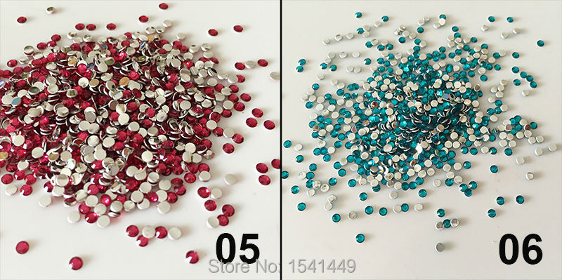 20 Colors SS6 2mm Resin Rhinestone 1000pcs/bag Nail Art Glass Surface Resin Rhinestone 14 Facets DIY Telephone Gemstone Jewelry