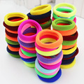 24pcs lot Candy Colored Fluorescence Hairbands High Quality Rubber Band Hair Elastics Accessories Girl Women Tie