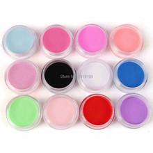 Pro 12 Цветов Акриловая Пудра Пыли Для Ногтевого Искусства УФ Builder Набор Инструментов Для Маникюра(China (Mainland))